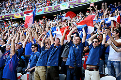 French Fans during the 1-1 draw in the Group D Match Against France AT The Euro 2012 Football Championships in Donetsk, Ukraine, June 11 2012. Photo By Imago/i-Images