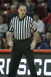 16 December 2012:   Referee Kelly Self during an NCAA men's basketball game between the Morgan State Bears and the Illinois State Redbirds (Missouri Valley Conference) in Redbird Arena, Normal IL
