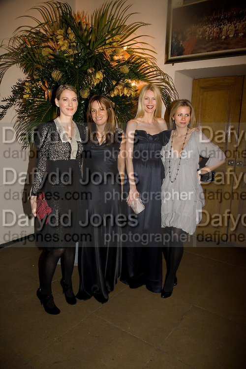 EMILY DYSON; EMILY OPPENHEIMER; CLAUDIA SCHIFFER; JANE GOTTSCHALK. Chaos Point: Vivienne Westwood Gold Label Collection performance art catwalk show and auction in aid of the NSPCC. Banqueting House. London. 18 November 2008<br />