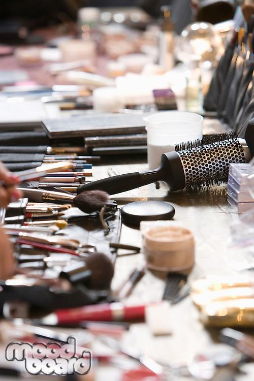Cosmetics range on dressing table