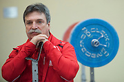 Zdzislaw Faras  trainer coach of Polish women's national team during training session two weeks before weightlifting IWF World Championships Wroclaw 2013 at the Olympic Sports Centre in Spala on October 08, 2013.<br /> <br /> Poland, Warsaw, September 16, 2013<br /> <br /> Picture also available in RAW (NEF) or TIFF format on special request.<br /> <br /> For editorial use only. Any commercial or promotional use requires permission.<br /> <br /> Mandatory credit:<br /> Photo by &copy; Adam Nurkiewicz / Mediasport
