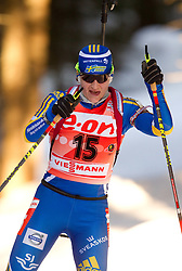Anna Carin Zidek of Sweden during the Women 15 km Individual of the e.on IBU Biathlon World Cup on Thursday, December 16, 2010 in Pokljuka, Slovenia. The fourth e.on IBU World Cup stage is taking place in Rudno Polje - Pokljuka, Slovenia until Sunday December 19, 2010.  (Photo By Vid Ponikvar / Sportida.com)