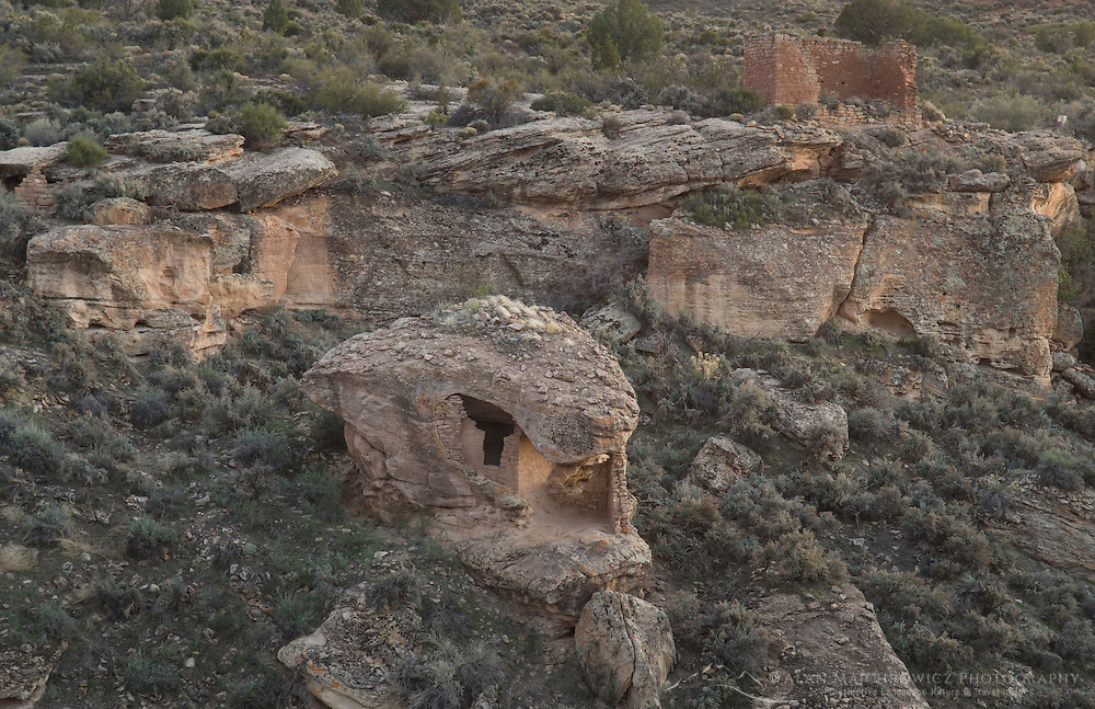 Eroded Boulder House ruins, Hovenweep National Monument, Arizona