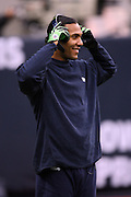Seattle Seahawks wide receiver T.J. Houshmandzadeh (84) smiles while warming up before the NFL football game against the Houston Texans on December 13, 2009 in Houston, Texas. ©Paul Anthony Spinelli