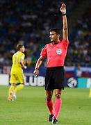 LUBLIN, POLAND - 2017-06-22: Domare Jes&uacute;s Gil Manzano under UEFA U21 matchen mellan Slovakien och Sverige p&aring;  Arena Lublin den 22 juni, 2017 i Lublin, Polen. <br /> Foto: Nils Petter Nilsson/Ombrello<br /> Fri anv&auml;ndning f&ouml;r kunder som k&ouml;pt U21-paketet.<br /> Annars Betalbild.<br /> ***BETALBILD***