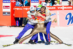 Anders Fannemel (NOR), Johann Andre Forfang (NOR), Daniel Andre Tande (NOR) and Kenneth Gangnes (NOR) celebrate after winning during Ski Flying Hill Team Competition at Day 3 of FIS Ski Jumping World Cup Final 2016, on March 19, 2016 in Planica, Slovenia. Photo by Vid Ponikvar / Sportida