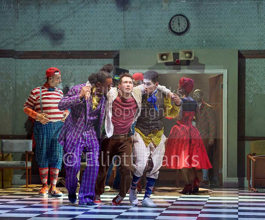 The Mad Hatter&rsquo;s Tea Party <br /> by Zoo Nation<br /> directed by Kate Prince<br /> presented by Zoo Nation, The Roundhouse &amp; The Royal Opera House<br /> at The Roundhouse, London, Great Britain <br /> rehearsal <br /> 29th December 2016 <br /> <br /> Tommy Franzen as Ernest <br /> <br /> <br /> Photograph by Elliott Franks <br /> Image licensed to Elliott Franks Photography Services
