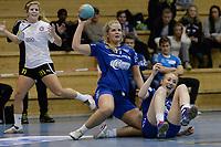 Christine Homme, Oppsal. Nina Stokland, Oppsal. Postenligaen 1314: Oppsal - Glassverket 22-26 - håndball - 8. januar 2014. Foto: Peter Tubaas - Digitalsport