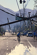 In September 1988 Hurricane Gilbert hit Jamaica. By the time the destruction had stopped, 45 people were dead and over 500,000 left homeless. Agriculture was devastated, with US$50 million in damage to coffee, sugar cane, banana and other crops. Looting was widespread, particularly in Kingston. Foreign aid of about US$125 million form the USA alone poured into the stricken island. The tourist parts of the island were returned to normal with remarkable speed, but others took much longer to recover from the devastation.