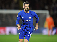 Football - 2017 / 2018 Premier League - Watford vs. Chelsea<br /> <br /> Olivier Giroud of Chelsea making his debut at Vicarage Road.<br /> <br /> COLORSPORT/ANDREW COWIE
