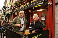 Peter Biddulph and Donal Walsh at the Front Door Galway 2011celebrating Guinness . Photo:Andrew Downes.