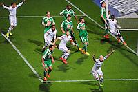 Joie Christophe JALLET - 19.04.2015 - Lyon / Saint Etienne - 33eme journee de Ligue 1<br />Photo : Jean Paul Thomas / Icon Sport