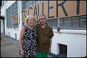 KATHRYN KLASSNIK; ROBIN KLASSNIK, Matt's Gallery 35th birthday fundraising supper.  42-44 Copperfield Road, London E3 4RR. 12 June 2014.