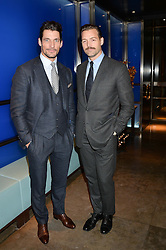 Left to right, DAVID GANDY and PATRICK GRANT at a dinner hosted by Anya Hindmarch and Dylan Jones to celebrate the end London Collections: Men 2014 held at Hakkasan, 8 Hanway Place, London on 8th January 2014.