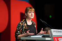 DEU, Deutschland, Germany, Berlin, 17.11.2018: Annika Klose, Berliner Juso-Chefin, beim Landesparteitag der Berliner SPD im Hotel Maritim.