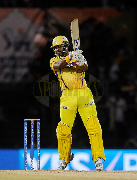 Dwayne Smith of The Chennai Superkings bats during the eliminator match of the Pepsi Indian Premier League Season 2014 between the Chennai Superkings and the Mumbai Indians held at the Brabourne Stadium, Mumbai, India on the 28th May  2014<br /> <br /> Photo by Pal PIllai / IPL / SPORTZPICS<br /> <br /> <br /> <br /> Image use subject to terms and conditions which can be found here:  http://sportzpics.photoshelter.com/gallery/Pepsi-IPL-Image-terms-and-conditions/G00004VW1IVJ.gB0/C0000TScjhBM6ikg