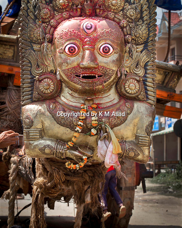 "May 2, 2015 - Kathmandu, Nepal- The chariot, the symbol of the rain god, prosperity and good luck after following massive earthquake magnitude-7.8 hit the country on 25 April 2015 in Bungmati village on the outskirts of Lalitpur, Nepal. School of Civil and Environmental Engineering Associate Professor Linlin Ge said the displacement was less than expected, prompting fears the stress that caused the initial earthquake may not have been fully released. ""It should be roughly several meters,"" he said. There are a lot of concerns about what is to come in terms of aftershocks, because the ground displacement is much less than we expected. The official death toll in Nepal has reached 9,231 people including 57 foreigners, with 112 foreigners still listed. Another 10,915 people were injured and 454,769 have been internally displaced."