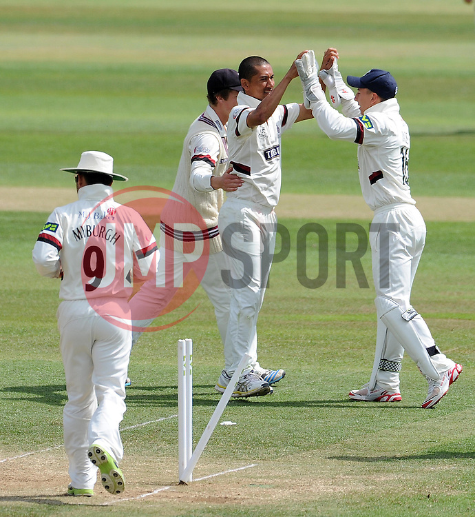 - Photo mandatory by-line: Harry Trump/JMP - Mobile: 07966 386802 - 16/06/15 - SPORT - CRICKET - LVCC County Championship - Division One - Day Three - Somerset v Nottinghamshire - The County Ground, Taunton, England.