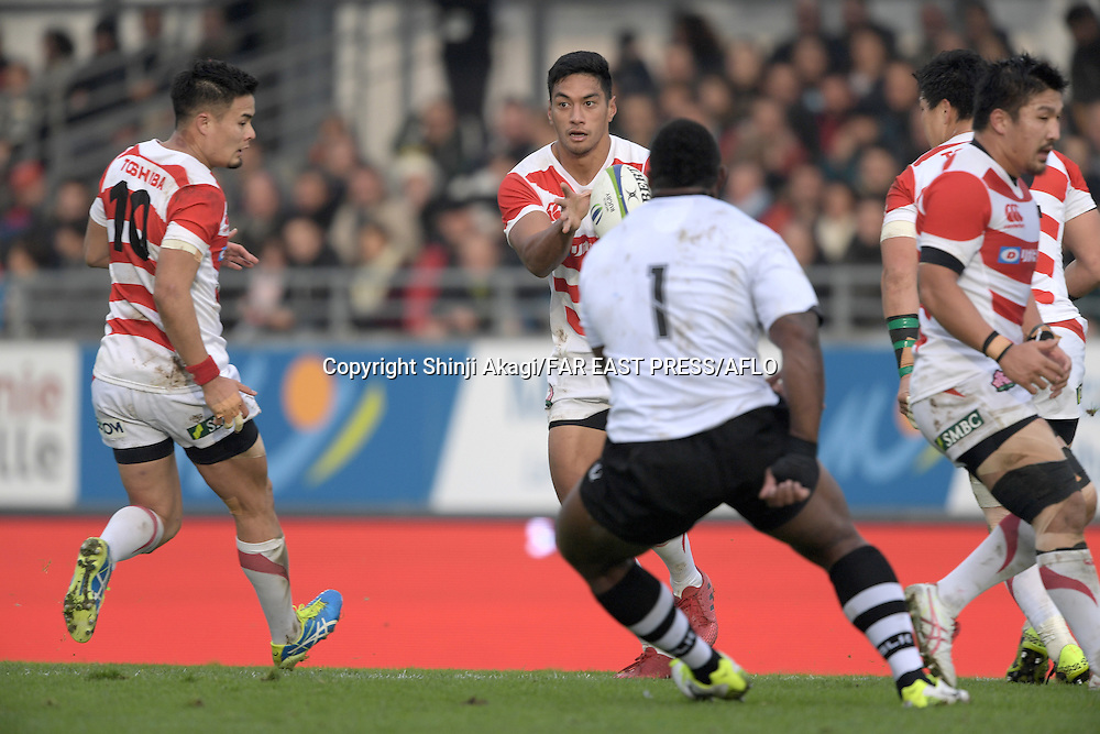 Timothy Lafaele (JPN), NOVEMBER 26, 2016 - Rugby : Rugby test match between Fiji and Japan at the Stade de la Rabine in Vannes, France. (Photo by FAR EAST PRESS/AFLO)