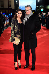 Colin Firth and wife Livia Giuggioli attending The Mercy premiere held at the Curzon Mayfair, London.