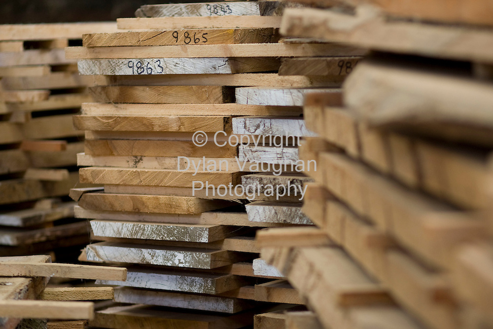 29/8/2008.Some of the wood which is in the process of being air dried  at Lisnavagh House in Carlow.Picture Dylan Vaughan.