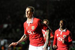 Bristol City's Aden Flint celebrates his goal  - Photo mandatory by-line: Joe Meredith/JMP - Mobile: 07966 386802 - 17/02/2015 - SPORT - Football - Bristol - Ashton Gate - Bristol City v Peterborough United - Sky Bet League One