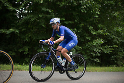Lauren Hall (USA) of UnitedHealthcare Cycling Team rides in the break up on the climb to Buchenwald on Stage 3 of the Lotto Thuringen Ladies Tour - a 124 km road race, starting and finishing in Weimar on July 15, 2017, in Thuringen, Germany. (Photo by Balint Hamvas/Velofocus.com)