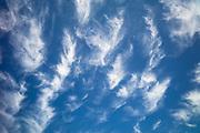 Cirrus clouds in blue sky
