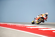 Spain's Dani Pedrosa (26) in a practice session during the 2016 Grand Prix of the Americas Moto GP race at circuit of the Americas, in Austin, Texas on April 9, 2016.