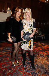 Left to right, EMILY OPPENHEIMER-TURNER and SALLY GREENE at The Hospital Awards - to honour talent in the creative industry, held at 9 Grosvenor Place, London on 3rd october 2006.<br />