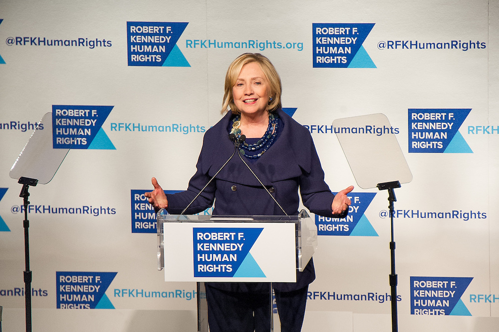 Hillary Clinton honored at RFK Human Rights  Gala in New York City.