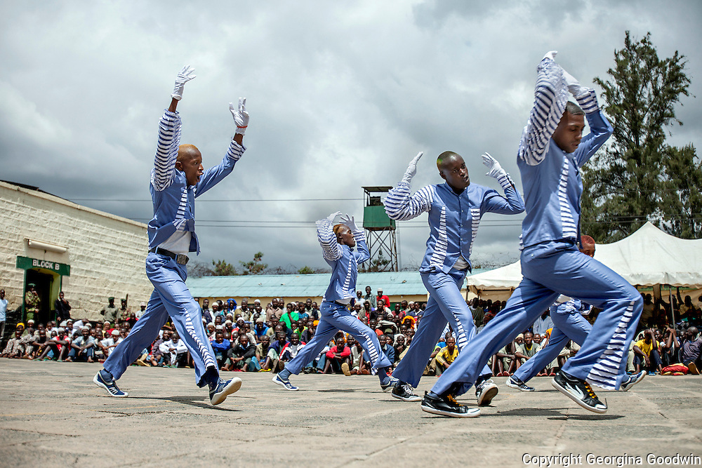 Dancers from Kamiti Medium Prison perform during celebrations being held for International Day of the Gifted under a programme called Talent Behind Bars at Nairobi Remand and Allocation Prison in the city's industrial area, built in 1911 by the British during the colonial period. Participants and inmates came from the Remand and Allocation Prison, Kamiti Main and Medium Prisons and Langata Women's Prison.