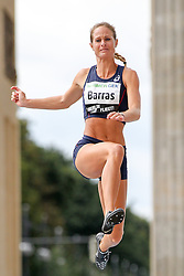 "05.09.2015, Brandenburger Tor, Berlin, GER, Leichtathletik Meeting, Berlin fliegt, im Bild Diane Barras (FRA) // during the Athletics Meeting ""Berlin flies"" at the Brandenburger Tor in Berlin, Germany on 2015/09/05. EXPA Pictures © 2015, PhotoCredit: EXPA/ Eibner-Pressefoto/ Fusswinkel<br /> <br /> *****ATTENTION - OUT of GER*****"