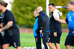 Eddie Jones talks with John Mitchell, Defence Coach of England  - Mandatory by-line: Ryan Hiscott/JMP - 24/09/2018 - RUGBY - Clifton College - Bristol, England - England Rugby - England Rugby Training