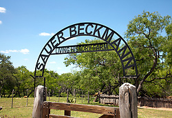 Entrance gate, Sauer-Beckman Living History Farm.