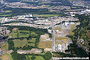 aerial photograph of the Syngenta Chemical works in Huddersfield West Yorkshire England UK. Formerly the ICI chemical factory the works have produced dyes for the last 100 years.
