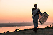 Mising woman<br /> Mising Tribe (Mishing or Miri Tribe)<br /> Majuli Island, Brahmaputra River<br /> Largest river island in India<br /> Assam,  ne India