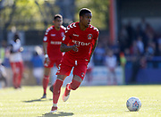 Ezri Konsa of Charlton Athletic  during the EFL Sky Bet League 1 match between Rochdale and Charlton Athletic at Spotland, Rochdale, England on 5 May 2018. Picture by Paul Thompson.
