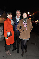 Left to right, SIR PAUL & LADY SMITH with their granddaughter LAUREN ADRIANA at a Winter Party hosted by Tiffany to celebrate the opening of the Ice Rink at Somerset House for Christmas 2011 held on 21st November 2011.