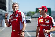 June 5-7, 2015: Canadian Grand Prix: Maurizio Arrivabene, team principal of Scuderia Ferrari, Sebastian Vettel (GER), Ferrari