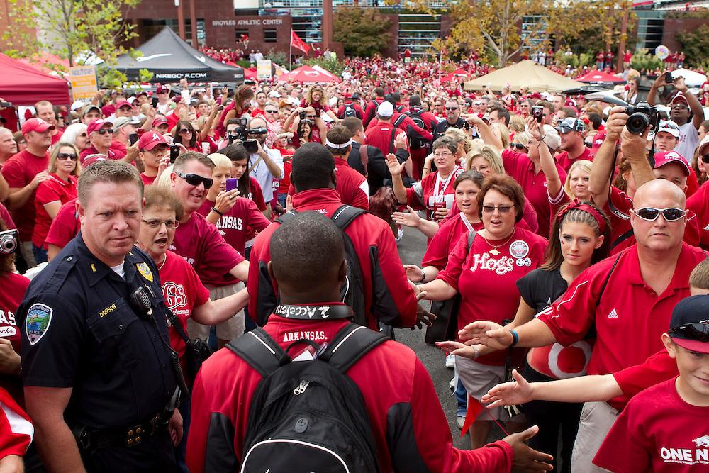 University of Arkansas Razorback 2010-2011 Football Team action photos....©Wesley Hitt.All Rights Reserved.501-258-0920.