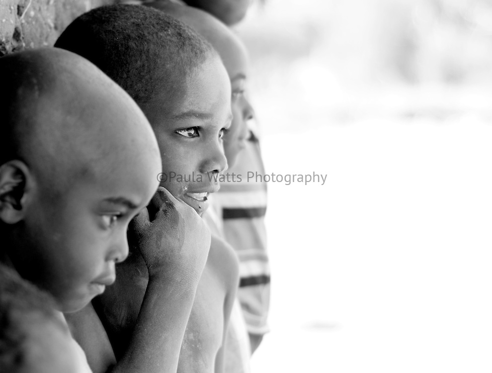 African children looking towards future