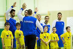 Slovenian players during Handball friendly match between Slovenia and Iran, on January 4, 2018 in Dol pri Hrastniku, Dol pri Hrastniku, Slovenia. Photo by Ziga Zupan / Sportida