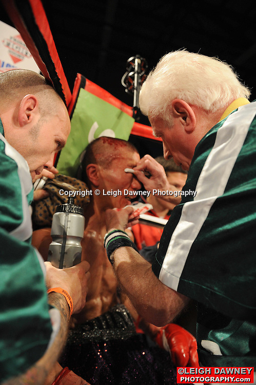 Shinny Bayaar defeats Ashley Sexton at Gorsebrook Leisure Centre Dagenham on 14th May 2010. Frank Maloney Promotions. Photo credit: © Leigh Dawney