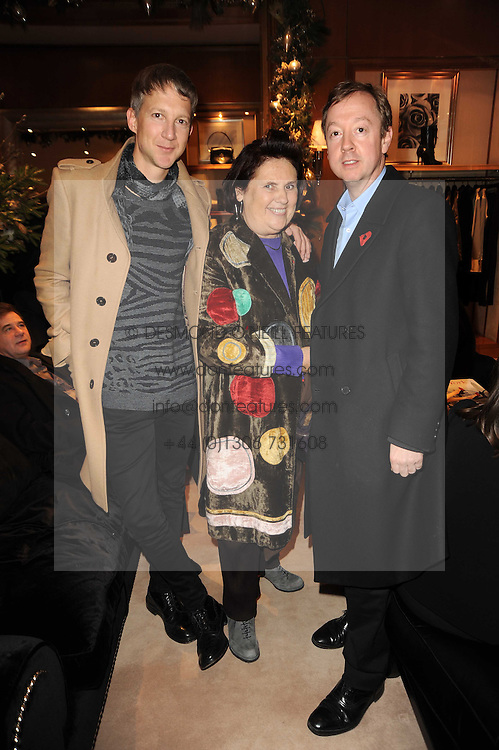Ralph Lauren unique 4D light installation event, celebrating the launch of the UK ecommerce site, held at Ralph Lauren, 1 New Bond Street, London W1 on 10th November 2010.  Picture Shows:-JEFFERSON HACK, SUZY MENKES and GEORDIE GRIEG