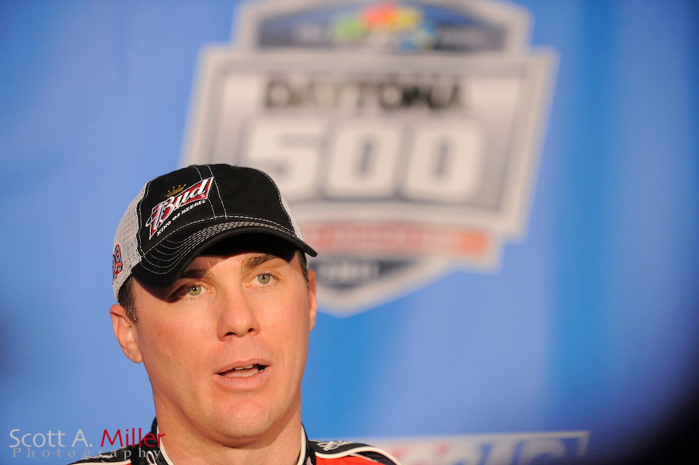 Kevin Harvick speaks to the media during NASCAR media day at the Daytona International Speedway on Feb. 10, 2011 in Daytona Beach, Fl...©2011 Scott A. Miller