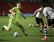 Louis Almond (Southport) runs at the Gateshead defence during the first half of the Vanarama National League match between Gateshead and Southport at Gateshead International Stadium, Gateshead, United Kingdom on 8 December 2015. Photo by Mark P Doherty.