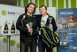 Bojan Glavič, Dario Rot, BTC – Medot rekreativni teniški turnir dvojic, on January 13, 2018 in BTC Millenium centre, Ljubljana, Slovenia. Photo by Vid Ponikvar / Sportida