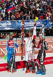 in action during 2nd Run of Men's Slalom of FIS Ski World Cup Alpine Kranjska Gora, on March 6, 2011 in Vitranc/Podkoren, Kranjska Gora, Slovenia.  (Photo By Vid Ponikvar / Sportida.com)