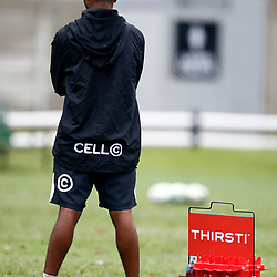Michael Khumbuza (Kit Manager) of the Cell C Sharks during The Cell C Sharks training session 10th December 2019 at Jonsson Kings Park Stadium in Durban, South Africa. (Photo by Steve Haag)<br /> <br /> images for social media must have consent from Steve Haag
